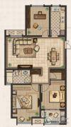 九洲新世界3室2厅1卫122平方米户型图