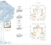 金茂国际生态新城3室2厅2卫88平方米户型图