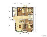 中国铁建・青秀尚城3室2厅1卫78平方米户型图