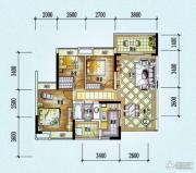 保利西海岸3室2厅1卫88平方米户型图