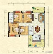 中泰名园4室2厅5卫142平方米户型图