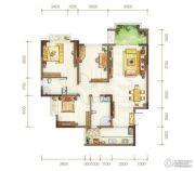 金隅时代都汇2室2厅2卫87平方米户型图