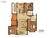 三盛・国际公园3室2厅2卫118平方米户型图