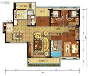 珠江金茂府4室2厅2卫168平方米户型图