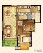星河国际2室2厅1卫89平方米户型图