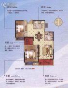碧桂园梅公馆3室2厅1卫88平方米户型图