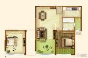 融创安信公馆2室1厅1卫75平方米户型图