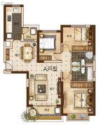 曲靖恒大绿洲3室2厅2卫127平方米户型图