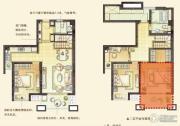 绿墅湾3室2厅2卫135平方米户型图