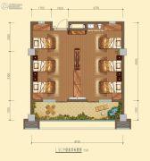 白鹿溪谷2室1厅1卫44平方米户型图