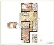 麒融国际3室2厅1卫122平方米户型图