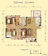 凤凰城2室2厅2卫138平方米户型图