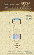 东方之珠花园1室0厅1卫27平方米户型图