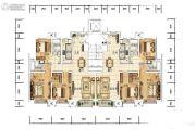 众美青城3室2厅2卫127平方米户型图