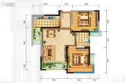 格林城2室2厅1卫71平方米户型图
