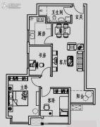 北方月光兰庭3室2厅1卫89平方米户型图