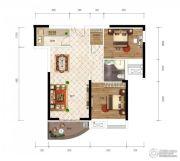 江南URD2室2厅1卫80平方米户型图