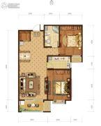 瀚唐2室2厅1卫94平方米户型图