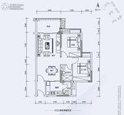 翔隆七色城邦2室2厅1卫81平方米户型图