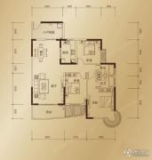 东方御景3室2厅2卫133平方米户型图