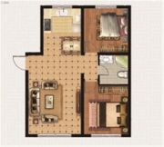 绿地中央广场2室2厅1卫0平方米户型图