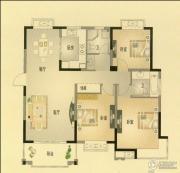 北城名郡3室2厅1卫127平方米户型图