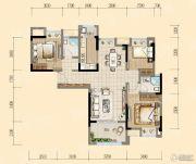 均瑶・御景天地3室2厅2卫107平方米户型图
