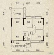 翡翠绿洲3室2厅2卫101平方米户型图