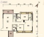 中恒广场3室2厅3卫110平方米户型图
