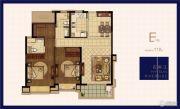 绿地华侨城海珀滨江2室2厅2卫118平方米户型图