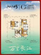 江山多娇5期3室2厅2卫110平方米户型图