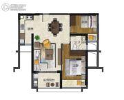 海�Z天翡2室2厅1卫85--87平方米户型图