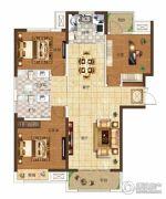 奥兰和园3室2厅2卫128平方米户型图
