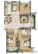 天润国际花园3室2厅2卫120--132平方米户型图