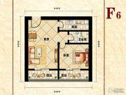 恒泰公馆1室1厅1卫67平方米户型图