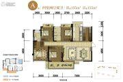 中铁诺德壹号4室2厅2卫135平方米户型图