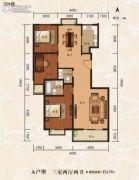 鼎极大院二期3室2厅2卫0平方米户型图