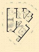 中东凯悦公馆2室2厅1卫85--90平方米户型图