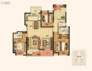 绿地江南华府4室2厅2卫170平方米户型图