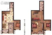 华富・瑞士名居3室3厅2卫0平方米户型图