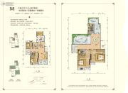 东方剑桥柔波里3室3厅3卫127平方米户型图