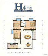 翰林尚品3室2厅1卫113平方米户型图