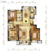 中信云邸3室2厅2卫135平方米户型图
