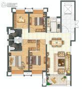金科城4室5厅5卫144平方米户型图