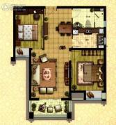 枫林天下2室2厅1卫87平方米户型图
