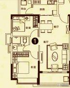 海南恒大御景湾2室2厅1卫81平方米户型图