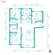 新河湾3室2厅2卫136平方米户型图