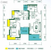 悦湖苑3室2厅2卫0平方米户型图