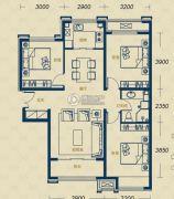 加州郡府・融邦3室2厅1卫106平方米户型图