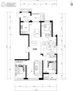 万正广场3室2厅2卫150平方米户型图